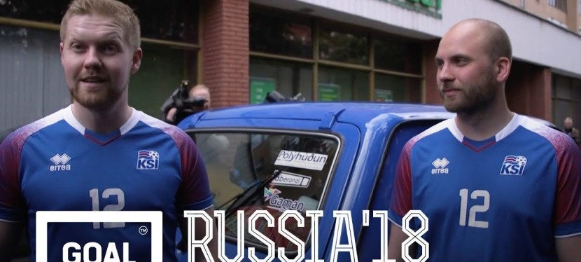 Islandske fan er rejst til Rusland i en ombyggetLada
