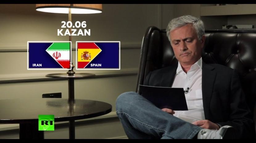 Jose Mourinho optakt til Iran –Spanien