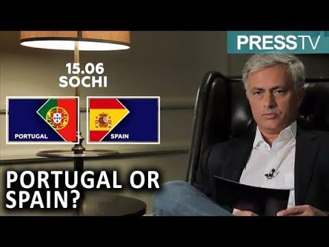 Jose Mourinho optakt til Spanien –Portugal